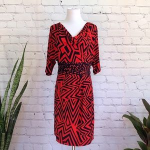 Taylor Abstract Geo Dress